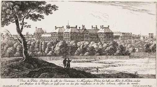 An image of The Orleans Palace from the Chartreaux side by Israel Silvestre