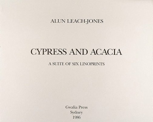 An image of Title page - Cyprus & Acacia by Alun Leach-Jones