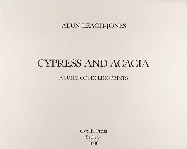 An image of Title page - Cyprus & Acacia