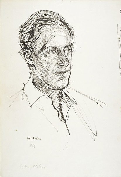 An image of Sidney Nolan (3/4 view) by Louis Kahan