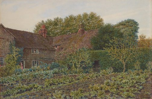 An image of An old farmhouse at Hambledon, Surrey by George Price Boyce