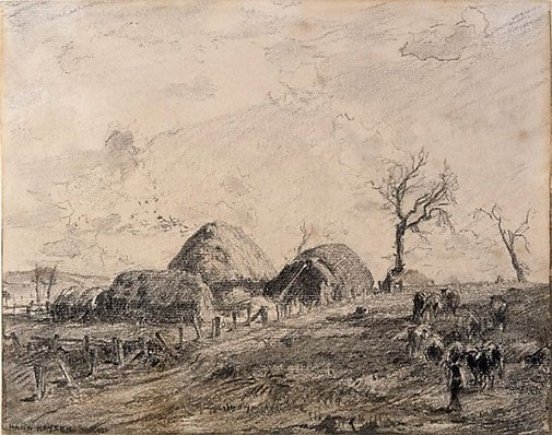 An image of The little farm by Hans Heysen