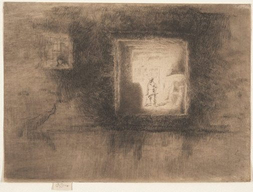 An image of Nocturne: furnace by James Abbott McNeill Whistler