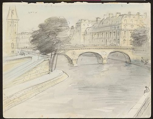 An image of Sketchbook no. 4: Italy, Malta, Austria, France, Greece, Suez Canal 1959 by Lloyd Rees