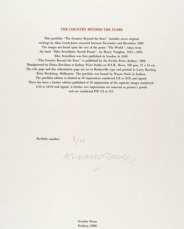 An image of Information page - The country beyond the stars (after Henry Vaughan)