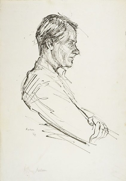 An image of Sidney Nolan (profile) by Louis Kahan