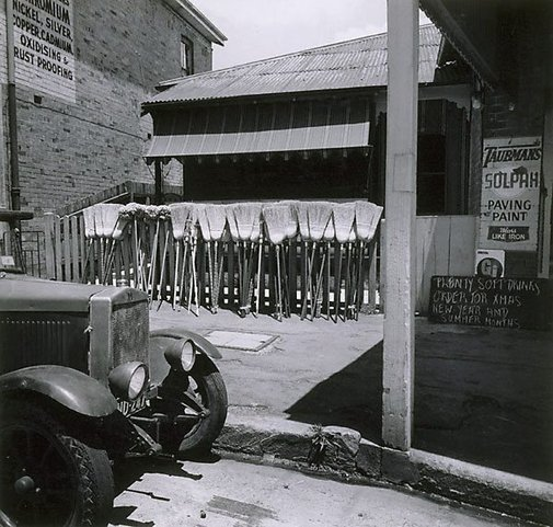 An image of Brooms for sale by Max Dupain