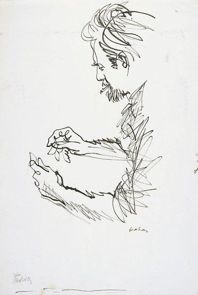 An image of Jon Molvig by Louis Kahan