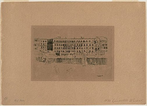 An image of Dieppe, The Old Hotel Royal by Walter Richard Sickert
