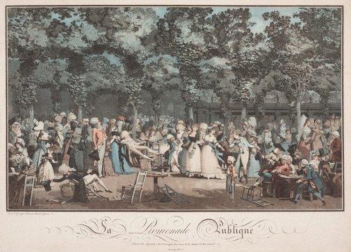 An image of The public promenade by Philibert-Louis Debucourt