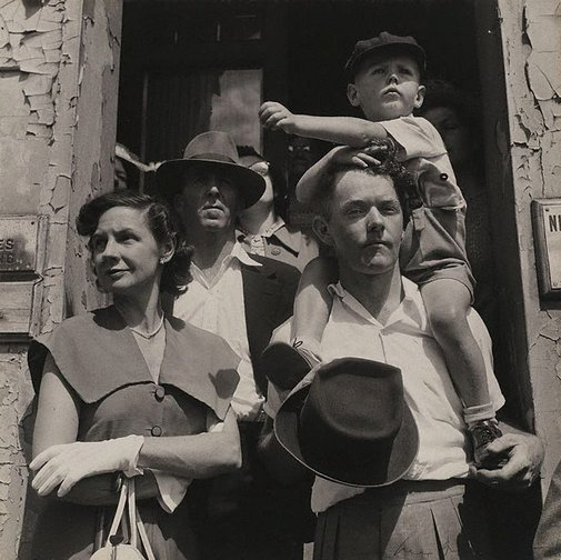 An image of At the procession by Max Dupain
