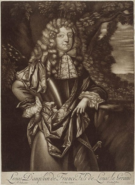 An image of Louis, dauphin of France by Pieter Schenck, after Sir Peter Lely