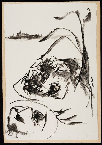 An image of (Illustration for 'Jonah' p.100) by Arthur Boyd