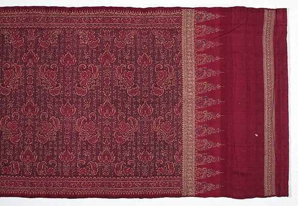 An image of Silk weft ikat and songket