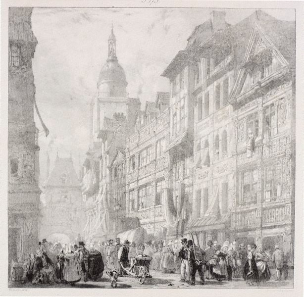 An image of Rue du gros horloge, Rouen