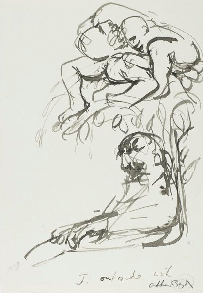 An image of (Illustration for 'Jonah' p.103) by Arthur Boyd