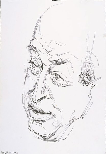 An image of Clement Greenberg by Louis Kahan