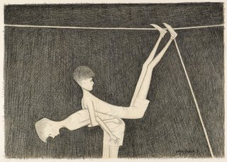 AGNSW collection John Brack Study for 'Back to back' 1971