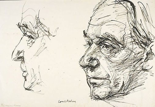 An image of Henry Moore by Louis Kahan