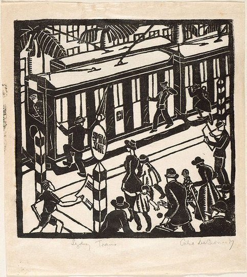 AGNSW collection Ailsa Lee Brown Sydney trams 1927