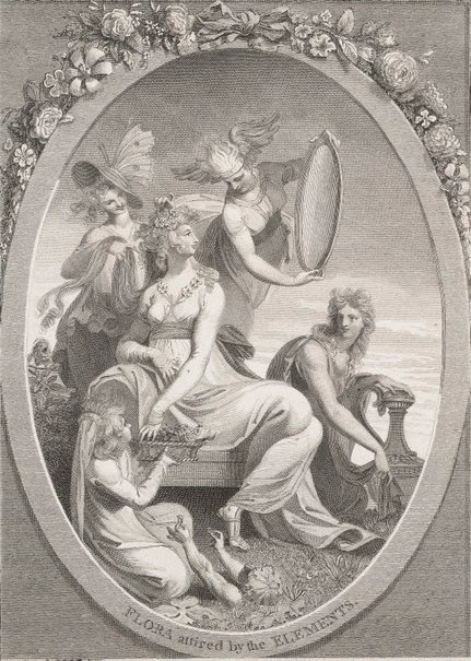 An image of Flora attired by the elements by Anker Smith, after Henry Fuseli