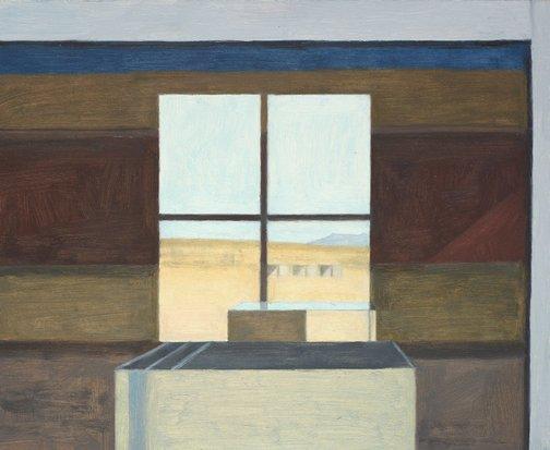 An image of Marfa window by Eleanor Ray