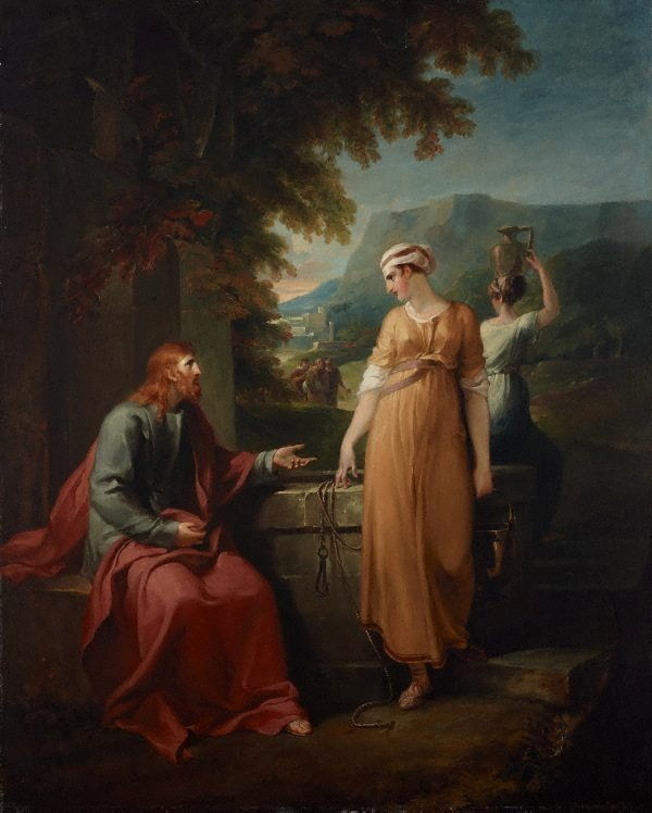 An image of Christ and the woman of Samaria