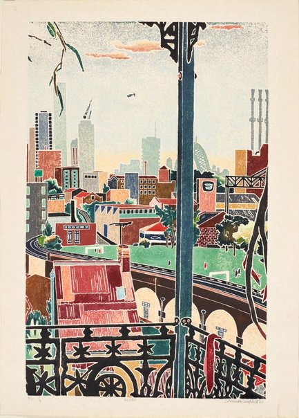 An image of Glebe by Cressida Campbell