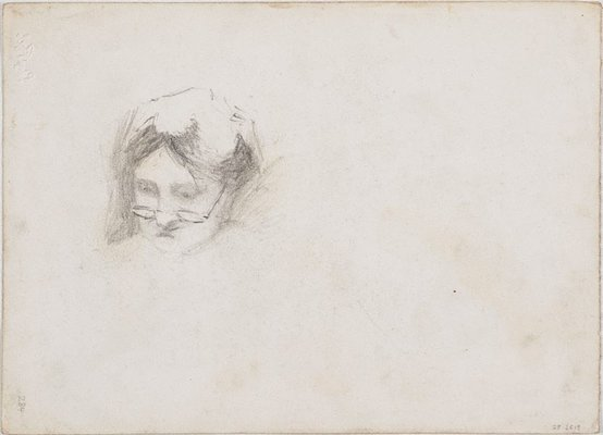 Alternate image of recto: Seated girl verso: Head of Angèle Rees by Lloyd Rees