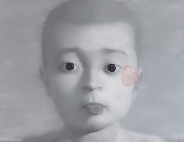 The boy who sticks out his tongue, 2001 by Zhang Xiaogang