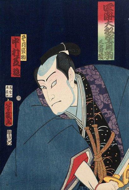 An image of Actor Nakamura Shikan by Utagawa YOSHICHIKA