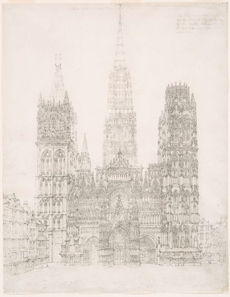 An image of Facade of the Cathedral of Notre Dame, Rouen by John Coney