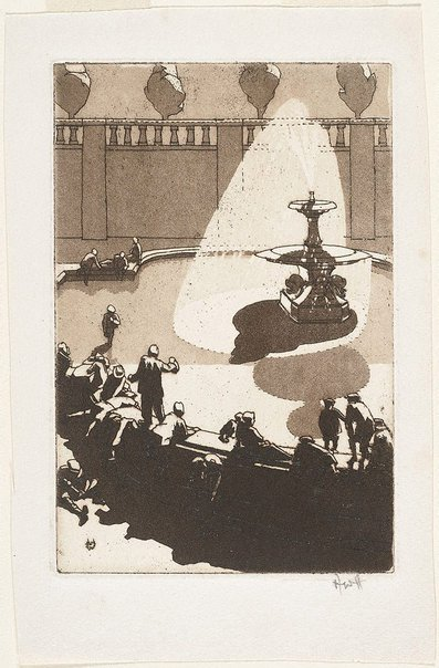 An image of (Fountain, Trafalgar Square) by Weaver Hawkins
