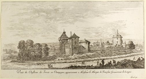 An image of The Chateaux of Irrois in Champagne by Israel Silvestre