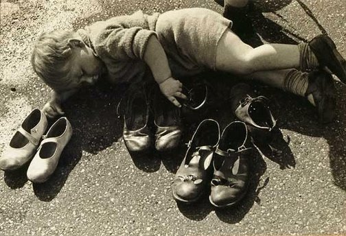 An image of Keeper of the shoes by Lawrence Collings
