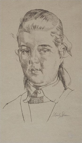 An image of Carolyn Pullan by Sir Stanley Spencer