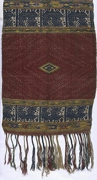 An image of Cloth with border design of animals