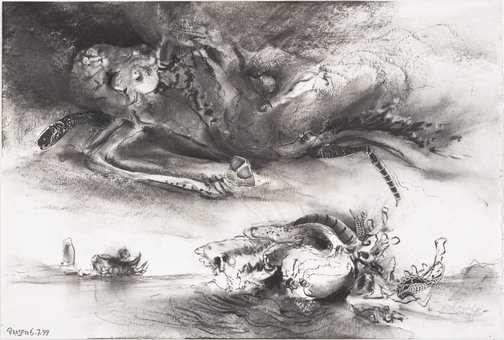 An image of Study for 'The riddle of the clouds' by James Gleeson
