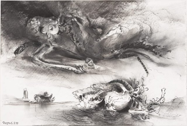 An image of Study for 'The riddle of the clouds'