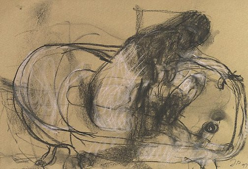 An image of Woman in the bath by John Olsen