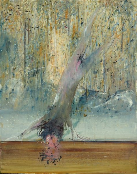 An image of Narcissus reflected by Arthur Boyd