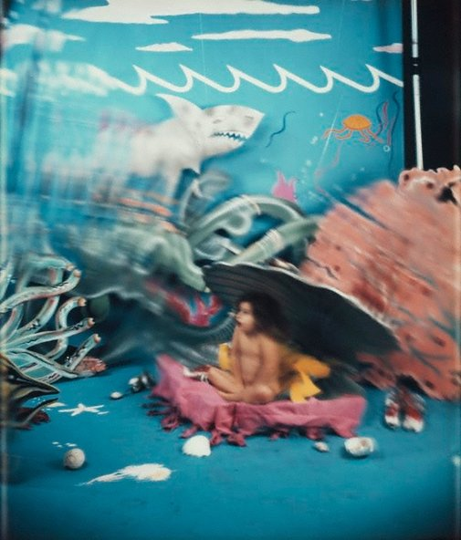 An image of Waterbaby (baby with shark) by Robyn Stacey