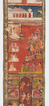 An image of Jain invitation scroll by