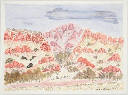An image of Gosse Bluff - Tnorala, NT by Lenie Namatjira
