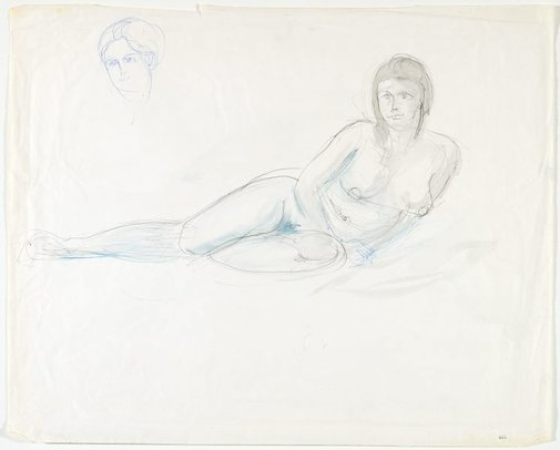 An image of Female nude and Head by Lloyd Rees