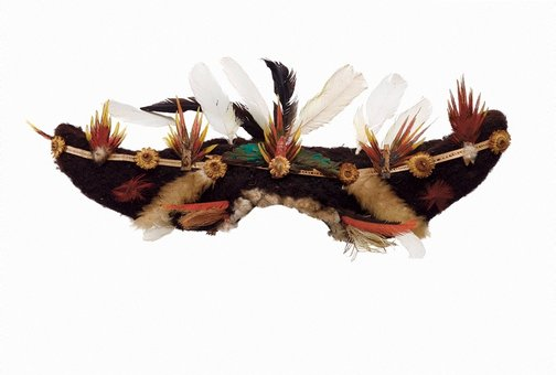 An image of Kembena (bullock-horn wig) by