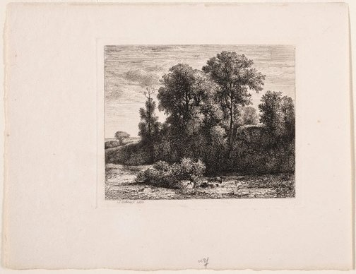 An image of Clump of trees by Jean-Alexis Achard