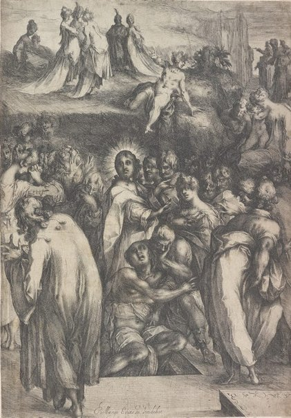 An image of The raising of Lazarus by Jacques Bellange