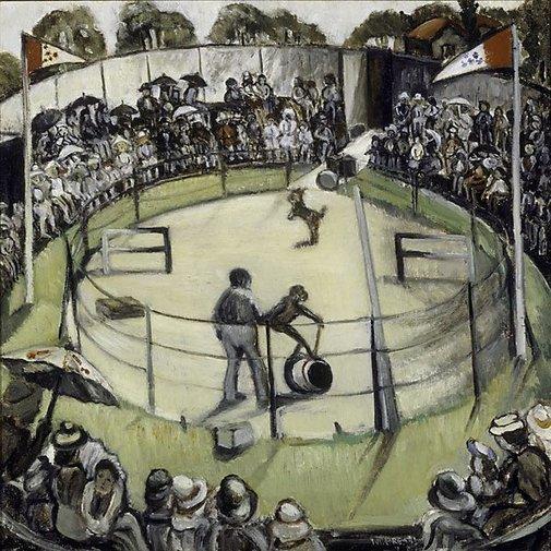 An image of The children's circus, Taronga Zoo by Margaret Preston