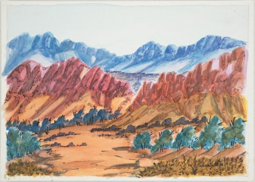 An image of West MacDonnell Ranges, NT by Ivy Pareroultja